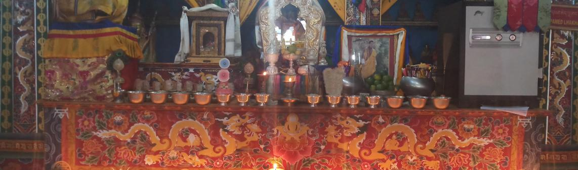 Butterlamp in Tshepamey Lhakhang